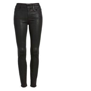 NWT Frame Le Skinny Jeane Nior Coated Jeans Sz 30